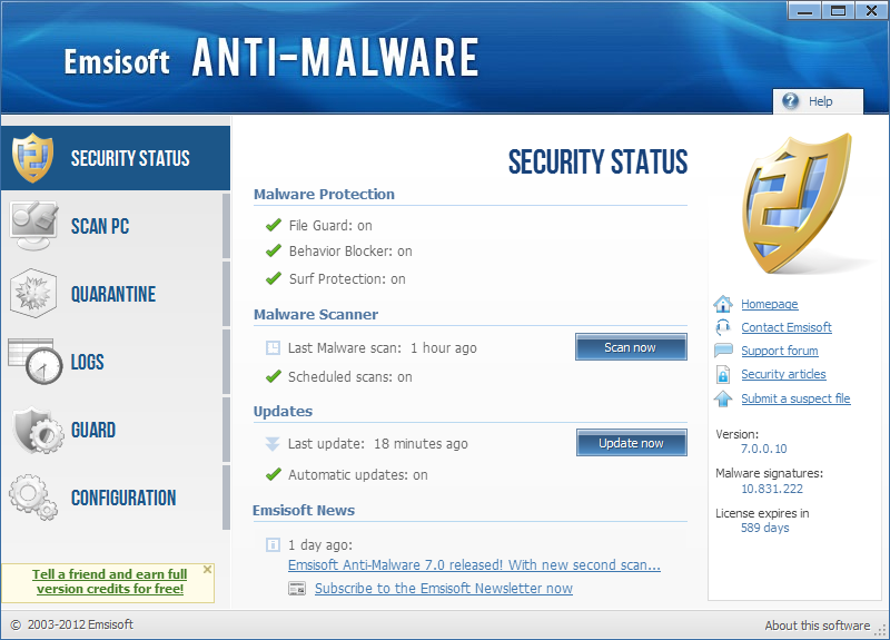 Emsisoft Anti-Malware 8.1.0.4 ������� securitystatus[1].png